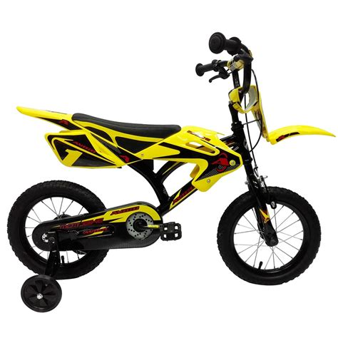 avigo motocross bike 14 quot avigo motobike kids bicycle with stabilisers moto