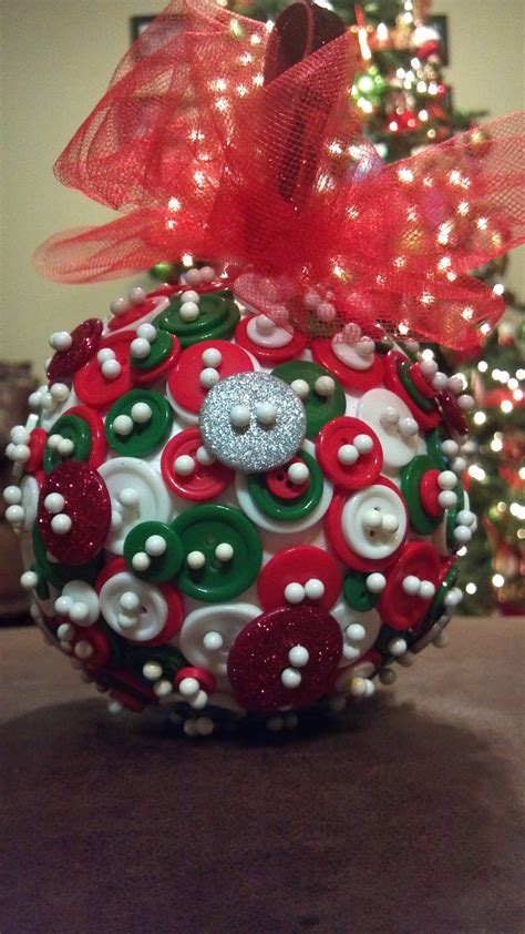 button ornament christmas pinterest