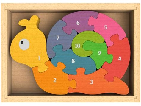 Chunky Puzzle Numbers Puzzle Chunky Angka number snail chunky wooden puzzles ebay