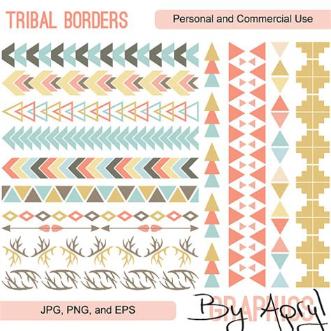 tribal pattern border tribal pattern borders clipart commercial use vector