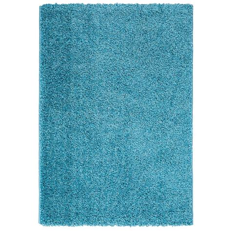 Blue Contemporary Area Rug Ottomanson Contemporary Solid Blue 5 Ft X 7 Ft Shag Area Rug Shg2766 5x7 The Home Depot