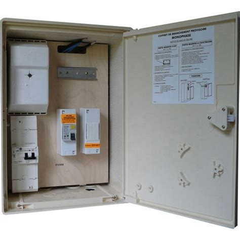 coffret electrique de chantier 1826 coffret provisoire de chantier 1id 63a 1 disjoncteur 15a