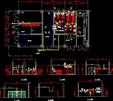 quarter  medical gases  dwg block  autocad