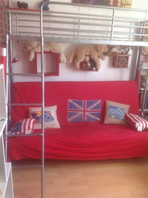 lit mezzanine 1 place avec clic clac lit mezzanine clic clac futon clasf