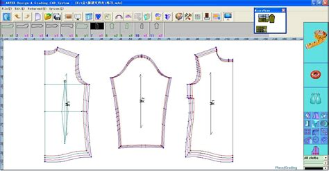 pattern design lactra artex apparel cad software for grading system shanghai