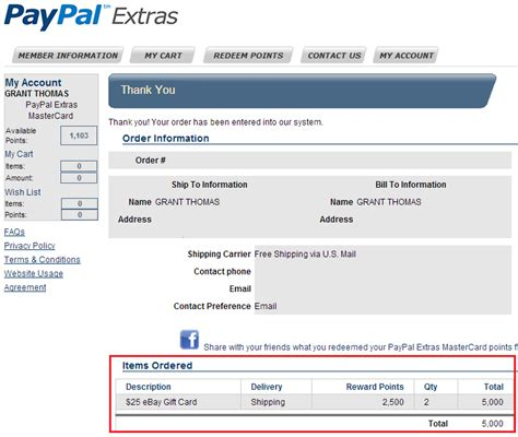 How To Use Gift Card On Paypal - paypal extras mastercard for ebay and paypal purchases