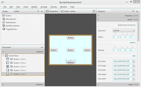 javafx layout tutorial javafx borderpane layout tutorial