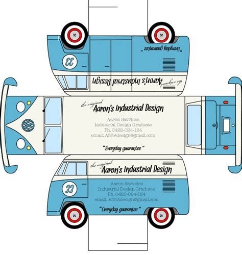 Kombi Cut Out I Is Aaron Industrial Product Design Vw Coloring Page