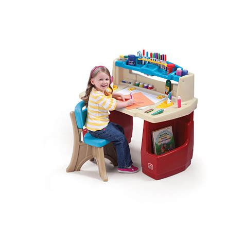 fisher price step 2 art desk step2 deluxe art master desk with chair for only 59 99