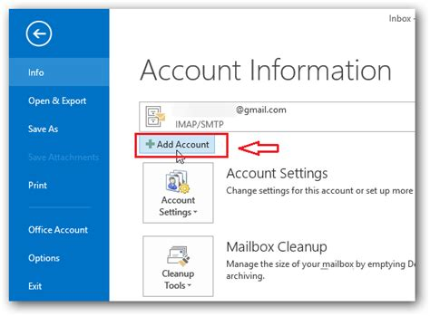 how to add email account to outlook 2013 how to configure gmail account in outlook 2013