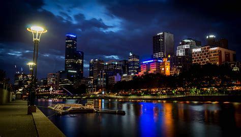lights cities wallpapers melbourne australia rivers lights