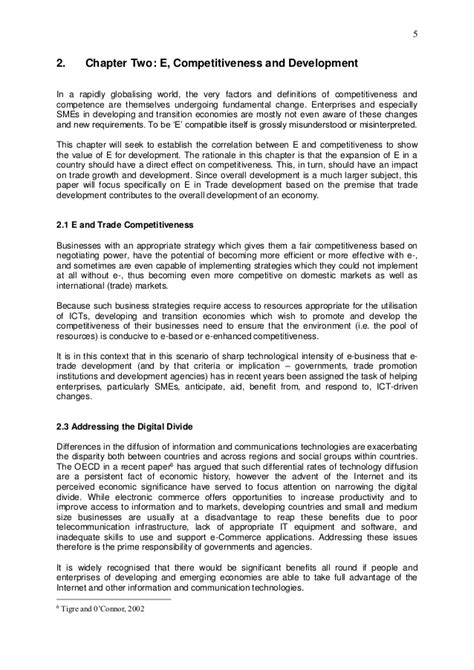 Competitiveness And Development ict competitiveness and trade development