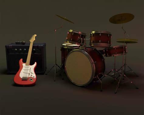 guitar drum musical drums and guitar photo free