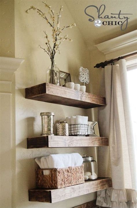 Diy Shelves For Bathroom 26 Simple Bathroom Wall Storage Ideas Shelterness