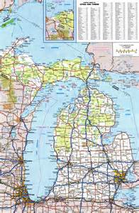 Road Map Of Michigan by Michigan Road Map Official Bing Images