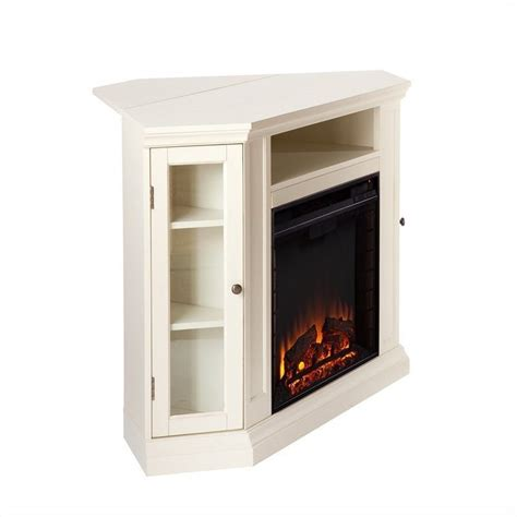 electric fireplace ivory southern enterprises ponoma convertible media electric fireplace ivory fe9314
