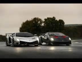 Lamborghini Aventador Vs Veneno Lamborghini Veneno Vs Sesto Elemento Comparison