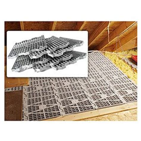 attic dek flooring pack of 4 panels gray