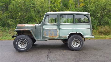 jeep station wagon lifted 1955 willys wagon 4x4 v8 california rat rod rod lifted