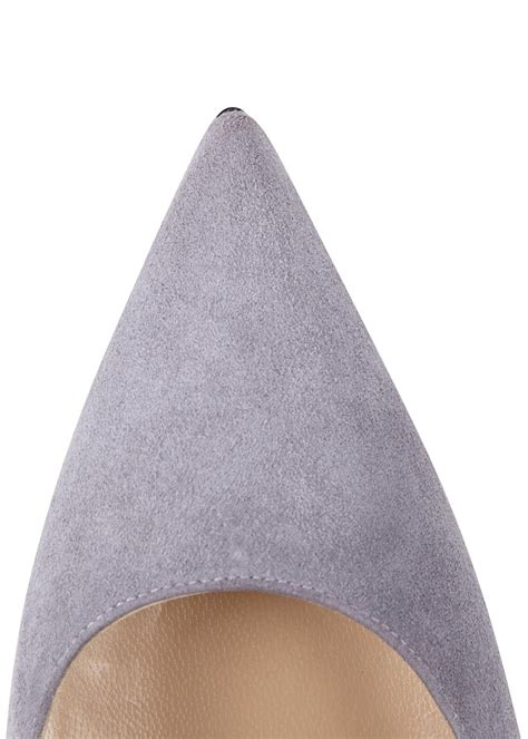 light grey suede pumps manolo blahnik bb light grey suede pumps in gray lyst