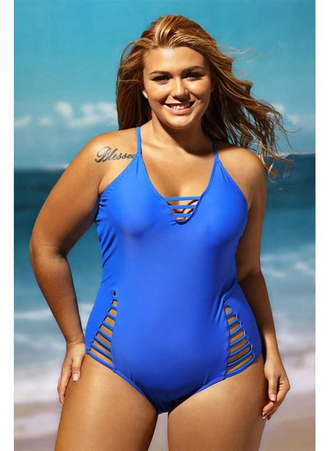 swimsuit pictures plus size cut out one swimsuit chicuu