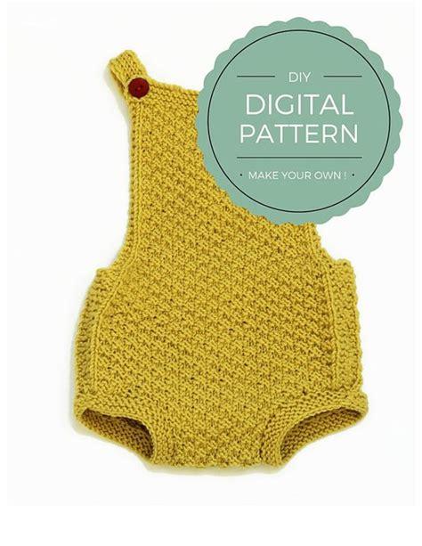 knitting pattern newborn romper baby romper knitting pattern quot mia quot download pdf baby