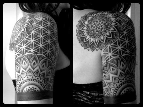mandala tattoo utah floral mandala 1 4 sleeve by michael bergfalk at cathedral