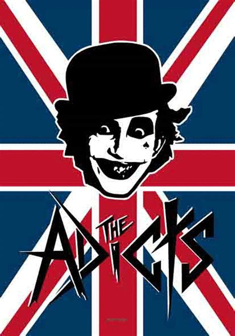 Home Decor Items by The Adicts Uk Band Logo Fabric Poster