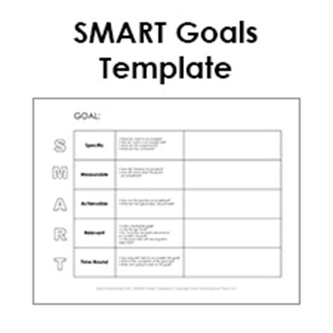 Free Smart Goals Template Pdf Smart Goals Exle Smart Goal Setting Template Excel