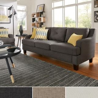 elston linen tufted sloped track sofa sofas couches loveseats shop the best deals for nov