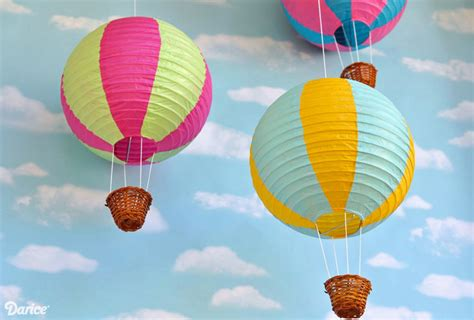 How To Make Paper Air Balloon Lantern - paper lantern diy air balloons tutorial