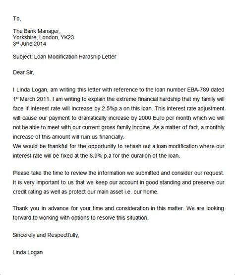 Hardship Letter Business Loans Hardship Letter 7 Free Doc