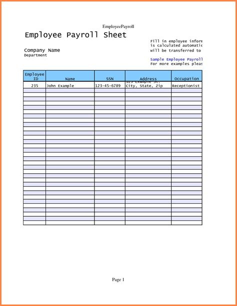 Payroll Sheet Template Portablegasgrillweber Com Payroll Sign In Sheet Template