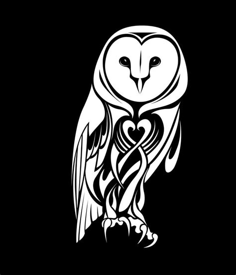 tribal tattoo owl tribal barn owl by coyotehills on deviantart