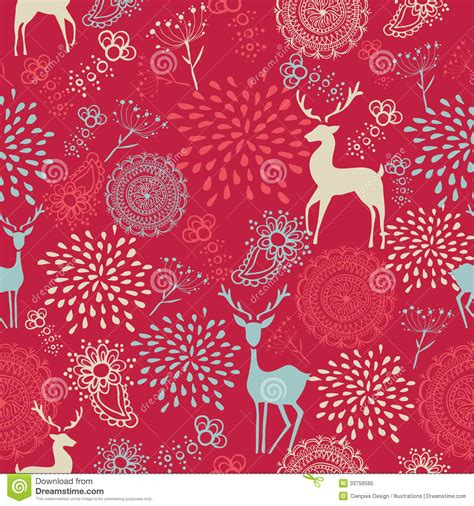 cute vintage pattern background colorful vintage elements seamless pattern backgro stock