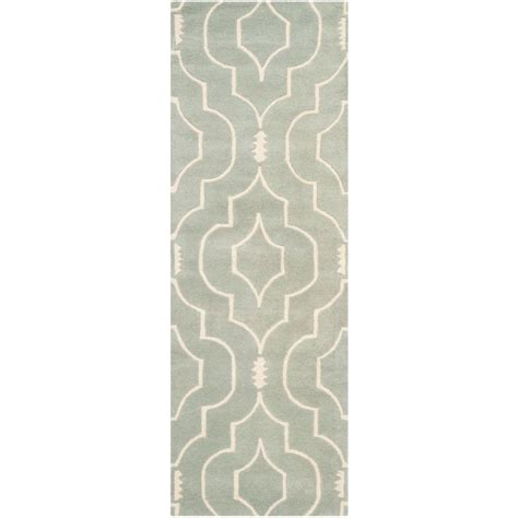 Pantofel Grey Ivory 2 safavieh chatham grey ivory 2 ft 3 in x 11 ft runner cht736e 211 the home depot