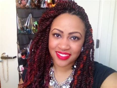 red marley hair protective style marley twists youtube