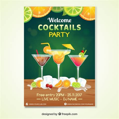 cocktail invitation cocktail invitation vector free