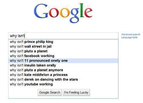 a list of the most googled quot why do quot questions in each the 24 most hilarious google search suggestions ever the