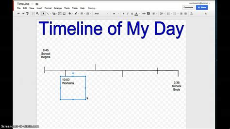 google timeline template vertola