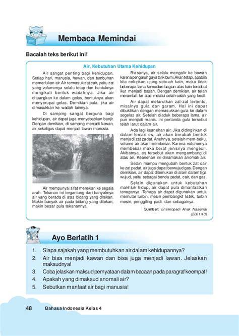 Jual Buku Bacaan Anak Sd Kelas 1 by Bahasa Indonesia Kelas 4