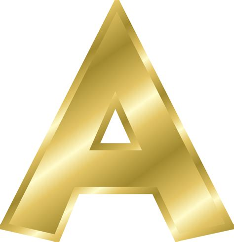 Letter Clipart Onlinelabels Clip Effect Letters Alphabet Gold