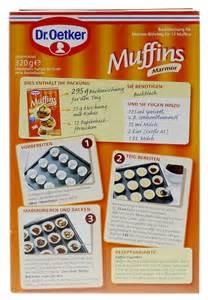 dr oetker mini kuchen dr oetker marmor muffins backmischung 12st 320g