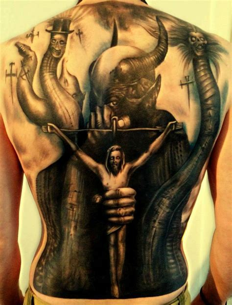 devil tattoos for men jesus and the tattoos