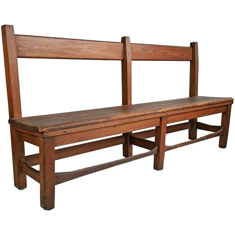 stickley bench arts and crafts primitive bench or settee 19th century