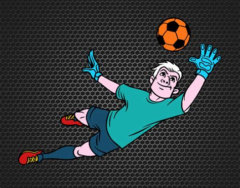 il portiere di calcio disegno il portiere di calcio colorato da utente non