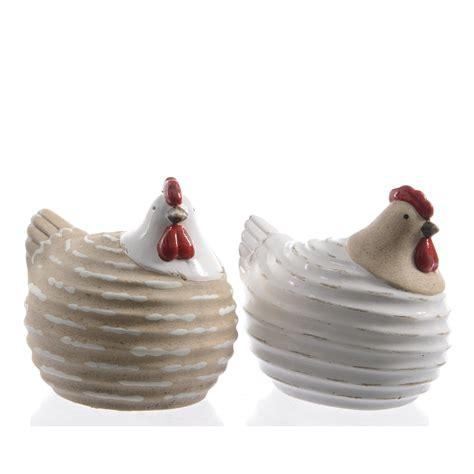 poule ceramique helix naturel 9 5cm florimat