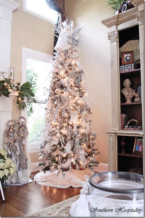 merry christmas  white  silver christmas tree southern hospitality