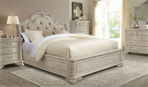 dove grey bedroom furniture renaissance dove grey sleigh upholstered bedroom set from