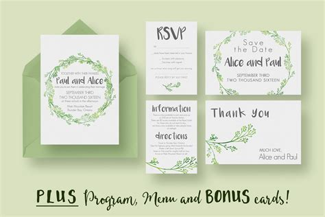 wedding invitation card suite with flower templates hip wedding invitation suite invitation templates on